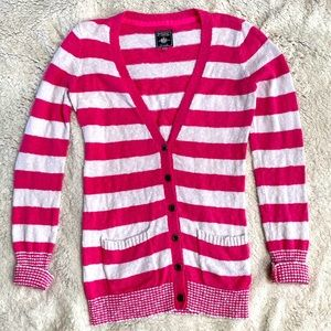 PINK Victoria's Secret Striped Pink Cardigan